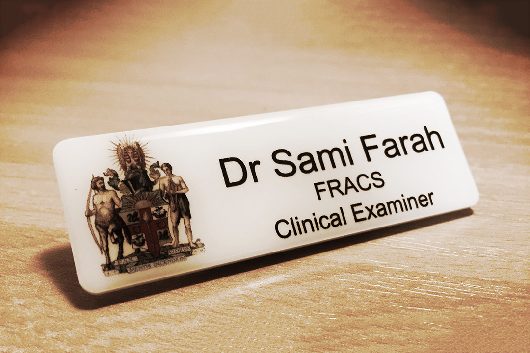 SB Farah Examiner Badge
